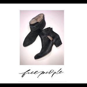 Free People Distressed Ankle Boots in Black- SZ 40